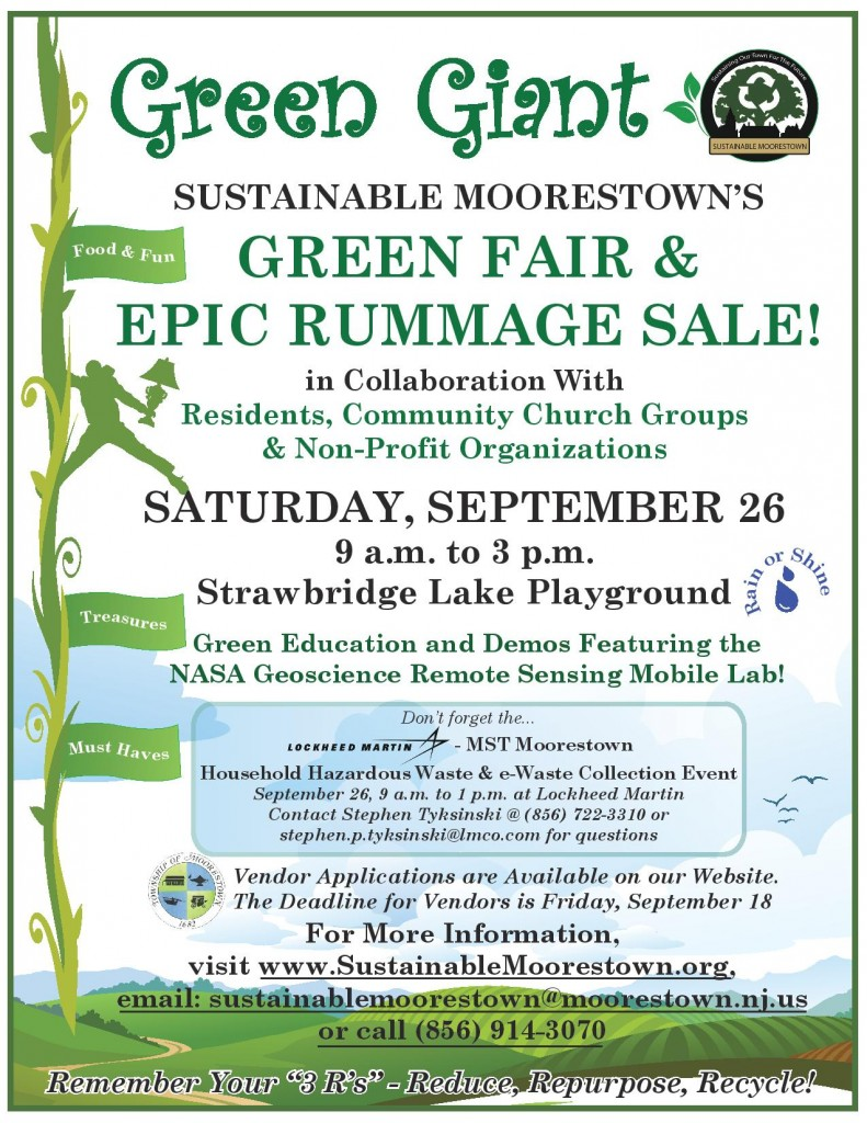 Sustainable Moorestown's Green Fair and Epic Rummage Sale